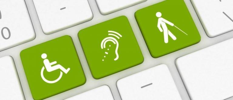 clavier avec des logos handicap