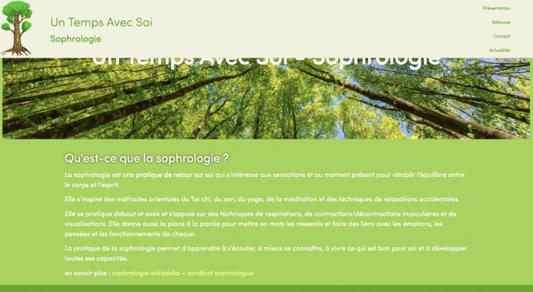 vue du site un temps avec soi sophrologie à Bordeaux